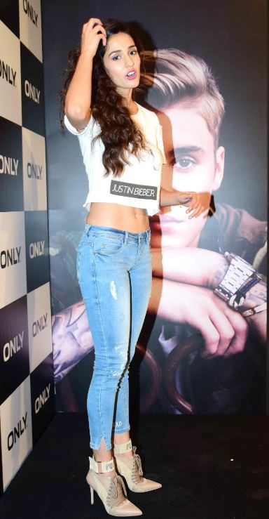 Disha Patani during the launch of #OnlyForBieber collection by fashion brand