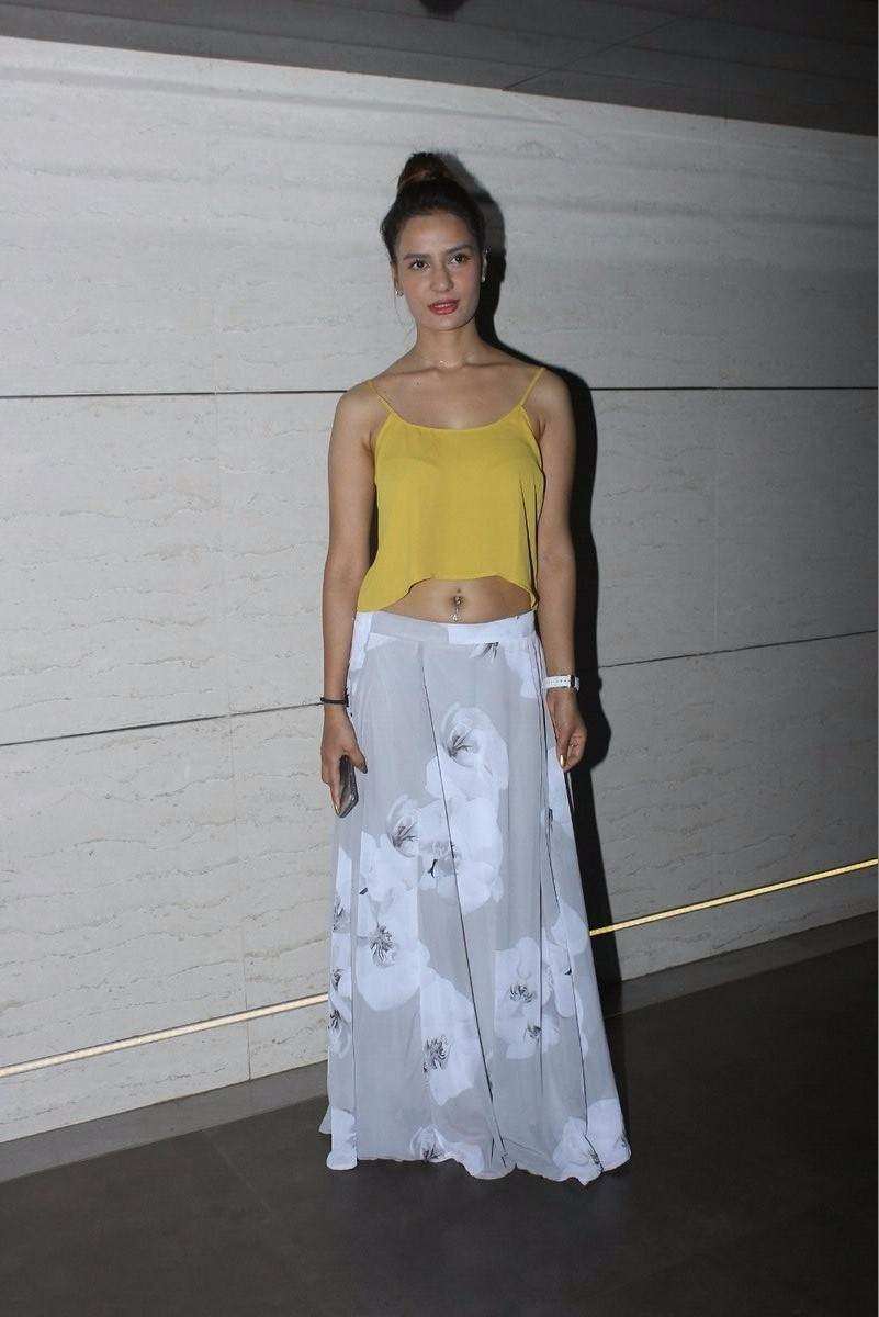 Bollywood actor Raina Bassnet during the screening of film Mantostaan