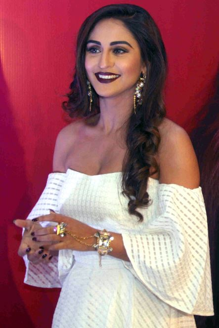 Television actor Krystal D'souza during the launch of her own mobile application in Mumbai