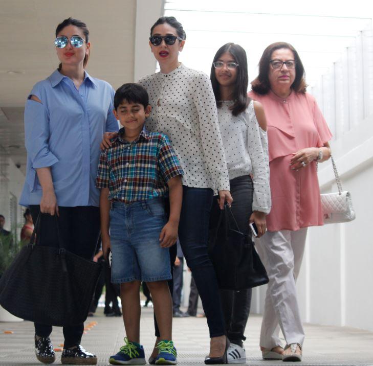 Kapoor sisters Kareena and Karishma seen together