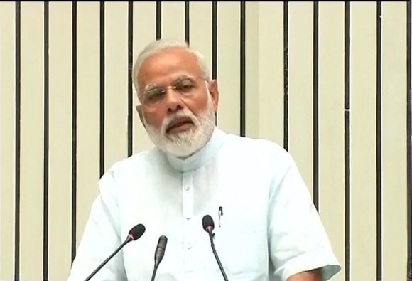 PM Modi speaking at the 11th Civil Services Day function in Vigyan Bhawan
