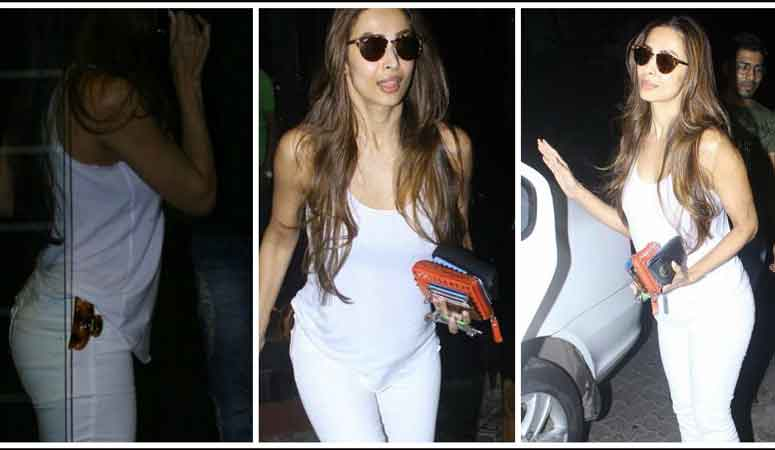 See the latest pictures of Malaika Arora Khan coming from Mumbai