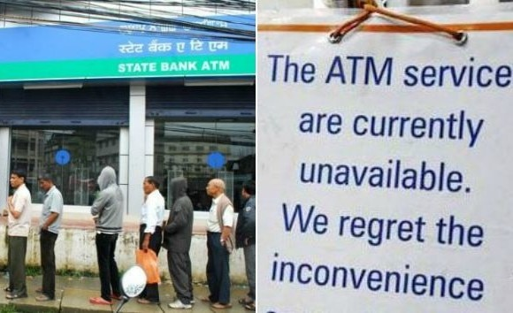 ATM not dispensing cash in various part of country