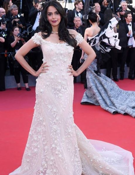Cannes 2017: mallika sherawat walks the red carpet in Georges Hobeika's design