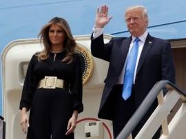 पहली विदेश यात्रा पर सउदी अरब पहुंचे US प्रेसिडेंट डोनाल्ड ट्रंप, पत्नी मेलानिया ने नहीं पहना हिजाब