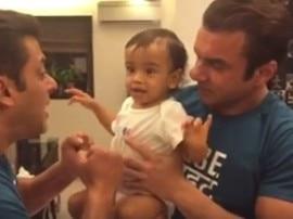 भांजे आहिल के साथ कुछ इस अंदाज में मस्ती कर रहे हैं सलमान खान, देखें वीडियो