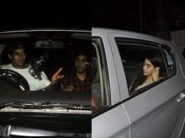 'बेवॉच' की स्क्रीनिंग पर एक ही गाड़ी से पहुंचे शाहिद के भाई ईशान और श्रीदेवी की बेटी जाह्नवी, देखें तस्वीरें