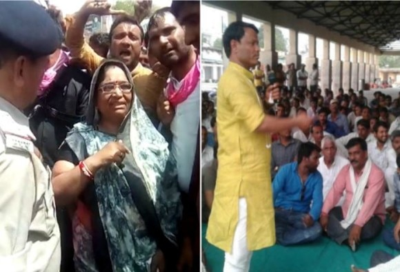 Madhya Pradesh farmers protest: Congress MLA Shakuntala Khatik and dp dhakad allegedly incites people to to set police station on fire, video viral