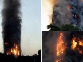 लंदन: 27 मंजिला इमारत में भीषण आग, खिड़कियों से कूदे लोग, कई की मौत