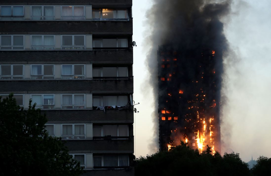 IN PICS: Massive blaze engulfs London's Grenfell tower, 200 firefighers at spot