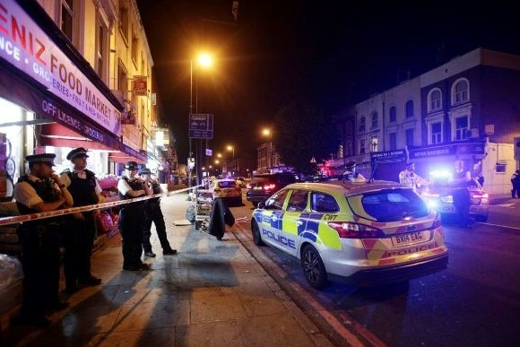 Vehicle hits pedestrians in London, several wounded