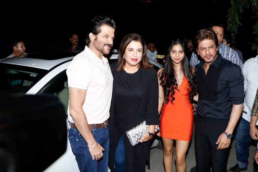 Anil Kapoor, Farah Khan, Suhana and SRK at the opening of Arth