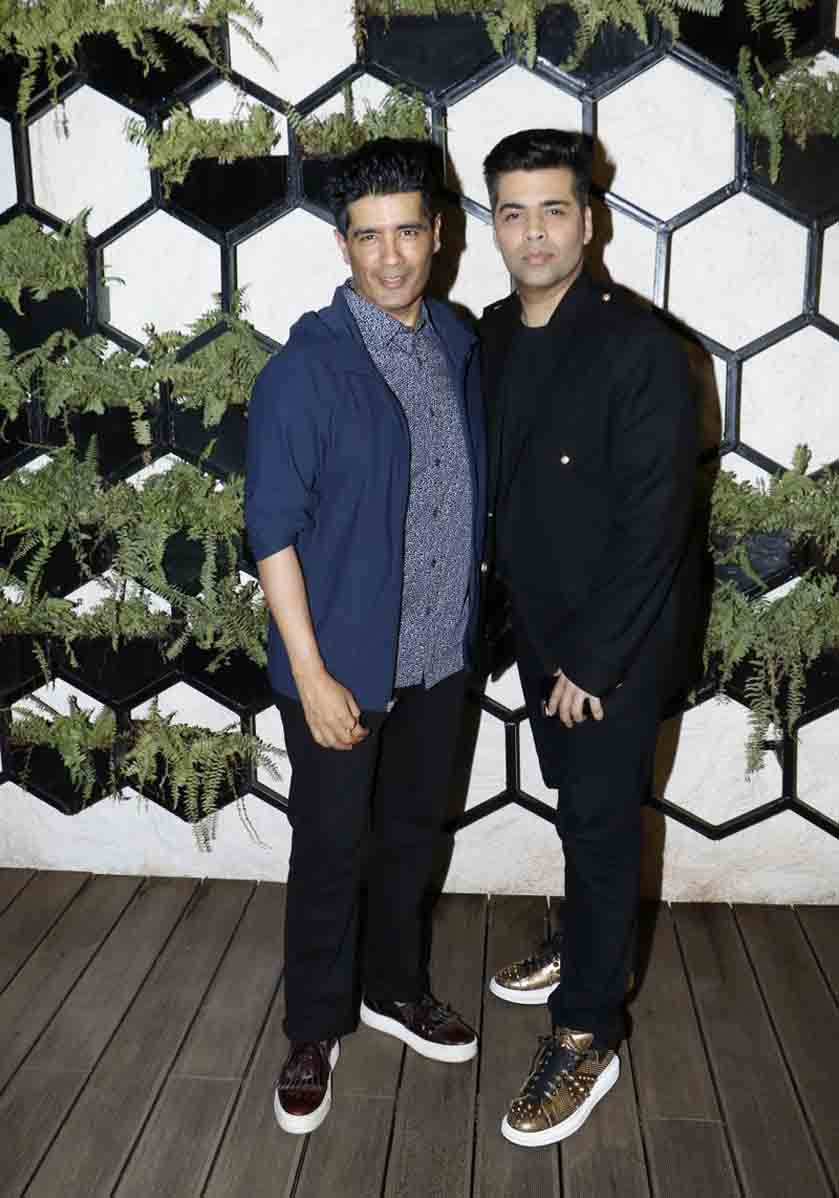 Manish Malhotra with Karan Johar at the opening of arth