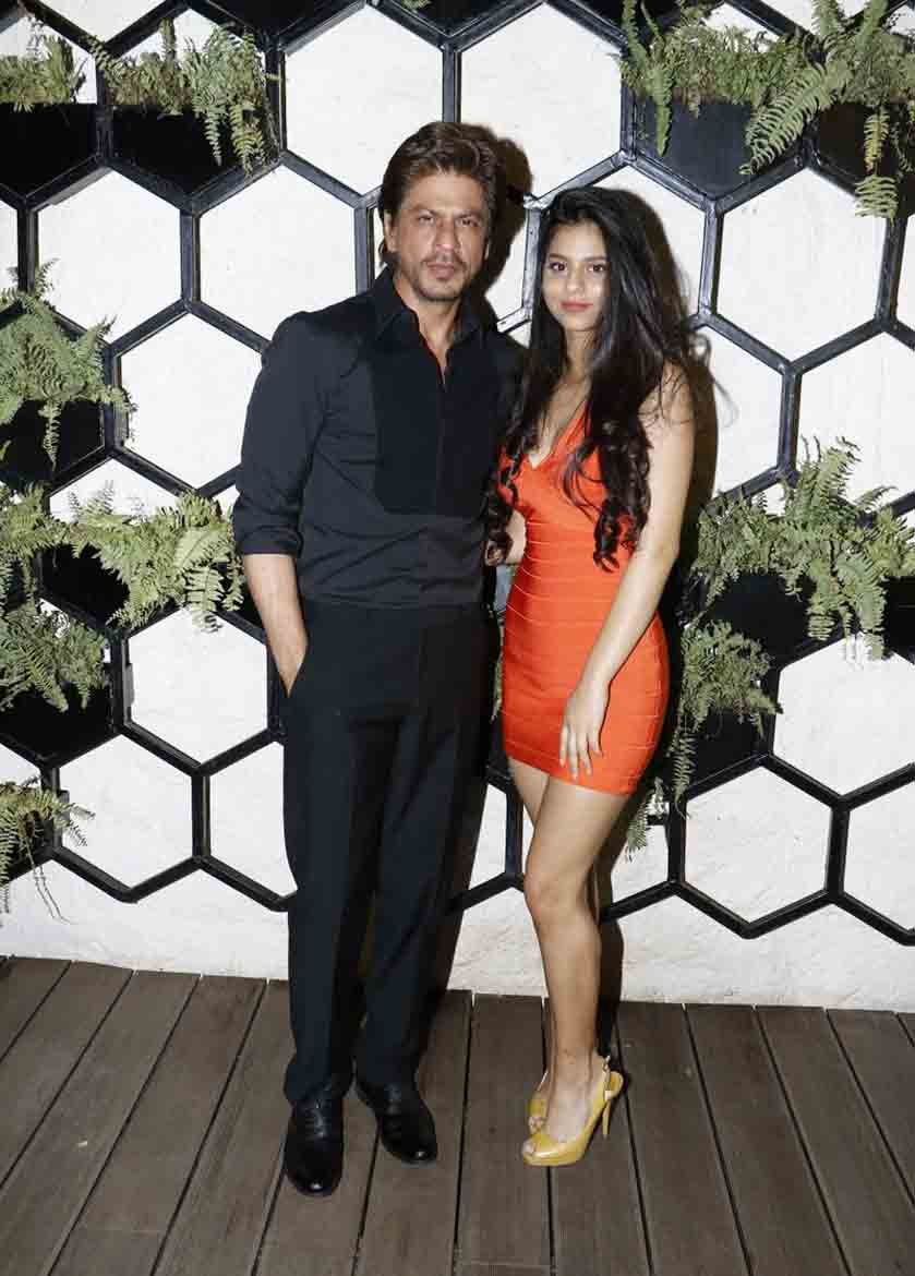 SRK and Suhana on Father's Dat at Arth