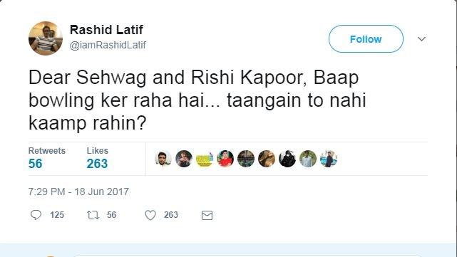 Rashid Latif Target Virender Sehwag and Rishi Kapoor after Pakistan's win