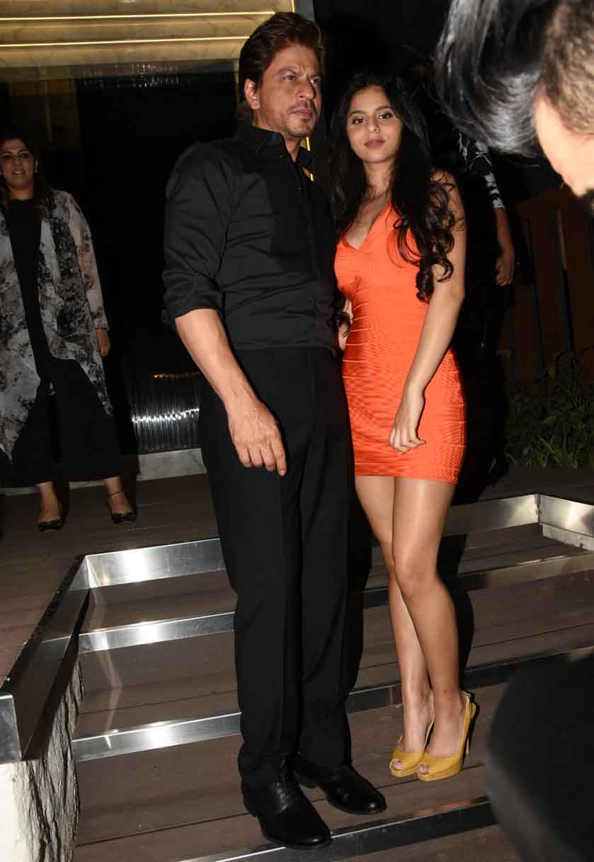 Suhana and Shah Rukh Khan at the opening of restaurant
