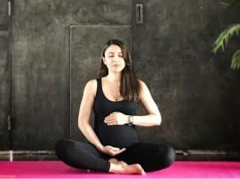 सोहा अली खान ने योगा करते हुए फ्लॉन्ट किया बेबी बंप, देखें तस्वीरें