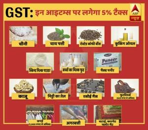GST: इन आइटम्स पर लगेगा 5% टैक्स
