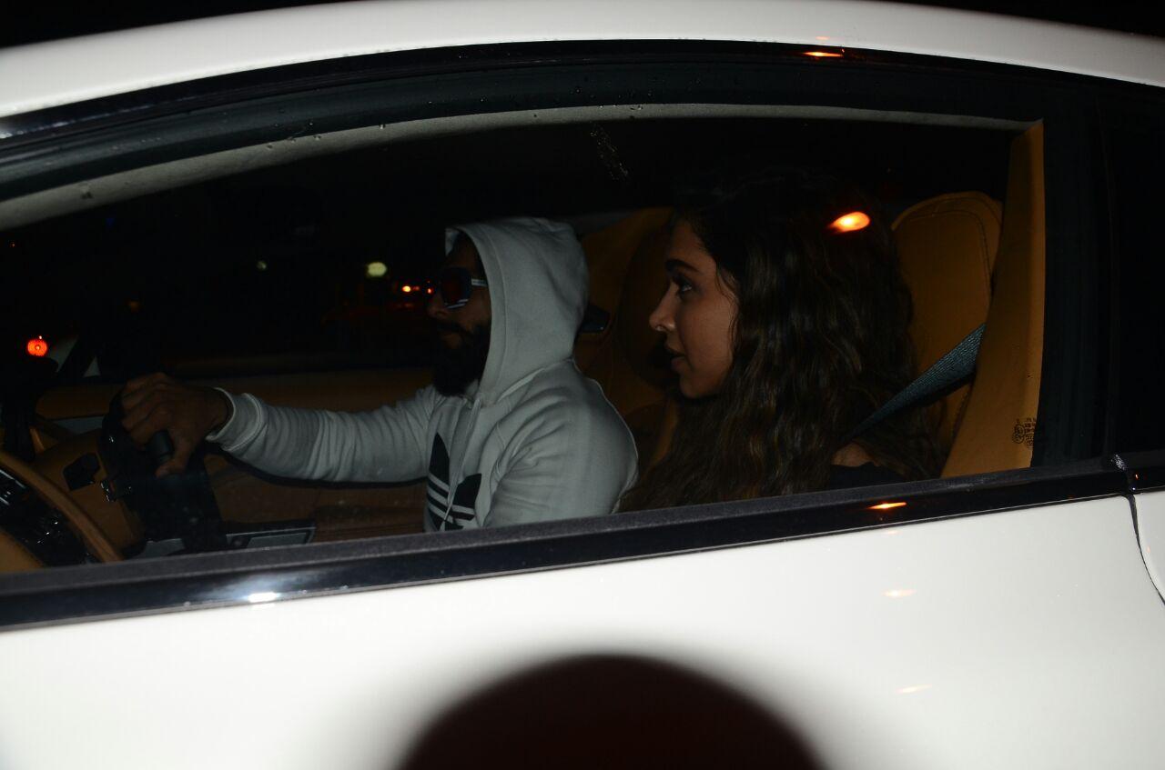 PICS : Ranveer Singh and Deepika Snapped on his BIrthday