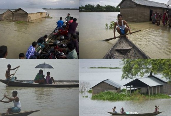 Heavy rains in many parts of the country, floods in Assam , 52 people died