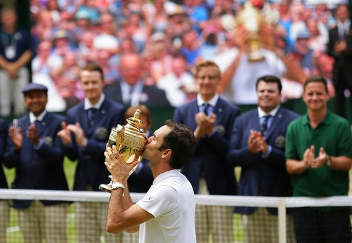 Roger Federer becomes record eighth time Wimbledon champion