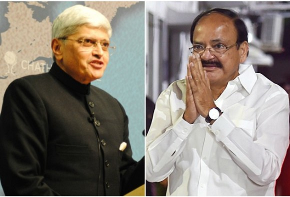 NDA candidate Naidu and UPA candidate Gopal Krishna to file nomination today