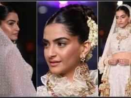 पंजाबी दुल्हन के लिबास में रैंप पर नजर आईं सोनम कपूर, जीत गईं सबका दिल