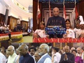 तस्वीरों में देखिए भारत के 14वें राष्ट्रपति का शपथ ग्रहण समारोह