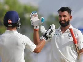 LIVE INDvsSL, 1st TEST:  पहले दिन भारत ने तीन विकेट खोकर बनाए 399 रन, पुजारा 144 - रहाणे 39 रनों पर नाबाद