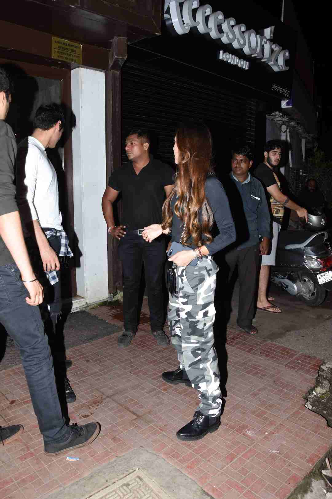 Ahan Shetty snapped with Girlfriend Tania Shroff at Bastian