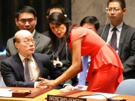 उत्तर कोरिया पर सौ फीसदी बैन लागू करने के पक्ष में चीन, हेली ने कहा- अब नहीं डरने वाले