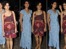 फिल्म प्रीमियर अटेंड करने साथ पहुंचीं सान्या और सना!