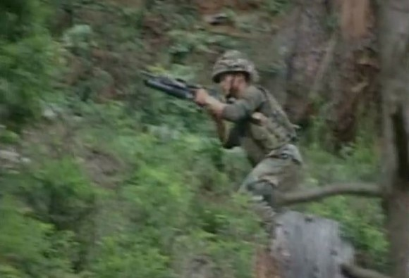 J&K:Terrorists attacked 41 RR Army HQ in forest area of Kalaroos in Kupwara