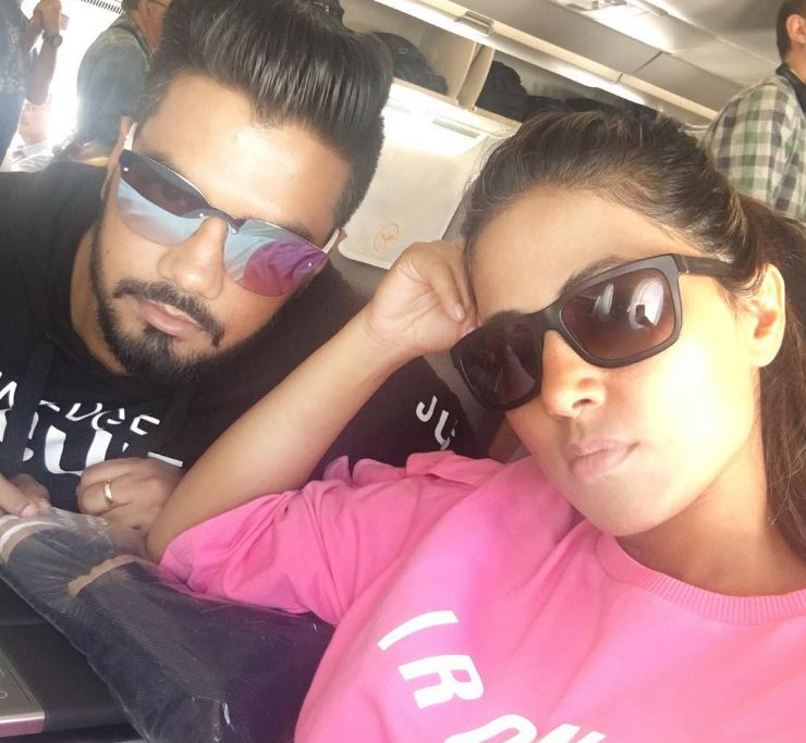 Hina Khan is celebrating Holidays with her Boyfriend Rocky