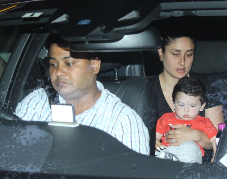 Kareena Kapoor Khan snapped with baby boy Taimur as she visits mom Babita house in mumbai