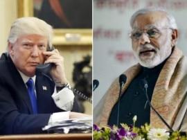 मोदी को ट्रंप का फोन, 'प्रशांत महासागर क्षेत्र में शांति बढ़ाने पर जताई सहमति'