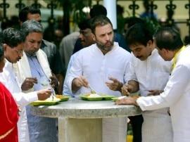 जब बेंगलुरू में इंदिरा कैन्टीन की जगह राहुल गांधी बोल गए 'अम्मा कैन्टीन'