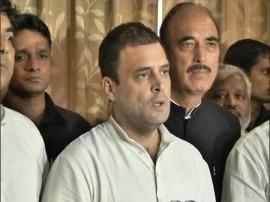 गोरखपुर ट्रेजडी: मृतक बच्चों के परिजनों से मिले राहुल गांधी, बोले- यह सरकार की बनाई 'राष्ट्रीय त्रासदी'