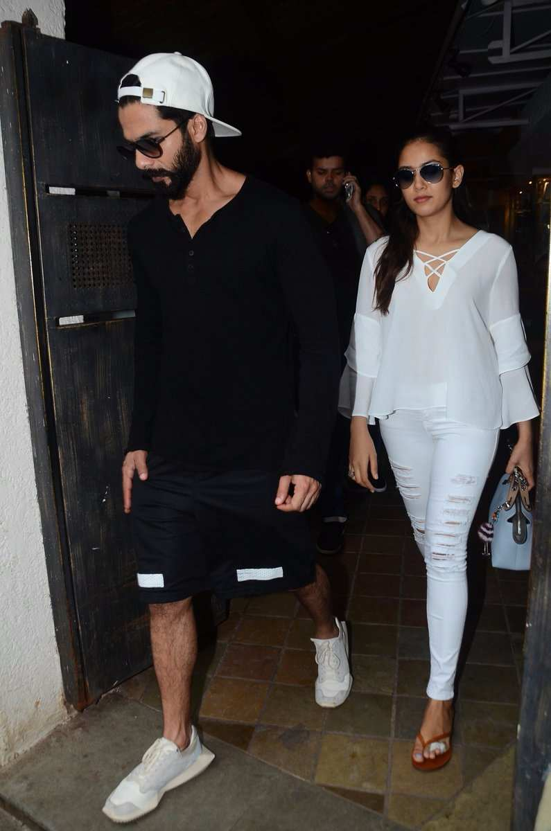 see the latest pics of shahid kapoor and mira rajput