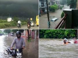 भारी बारिश ने पंजाब के चंडीगढ़ समेत मोहाली जैसे शहरों का किया हाल बेहाल