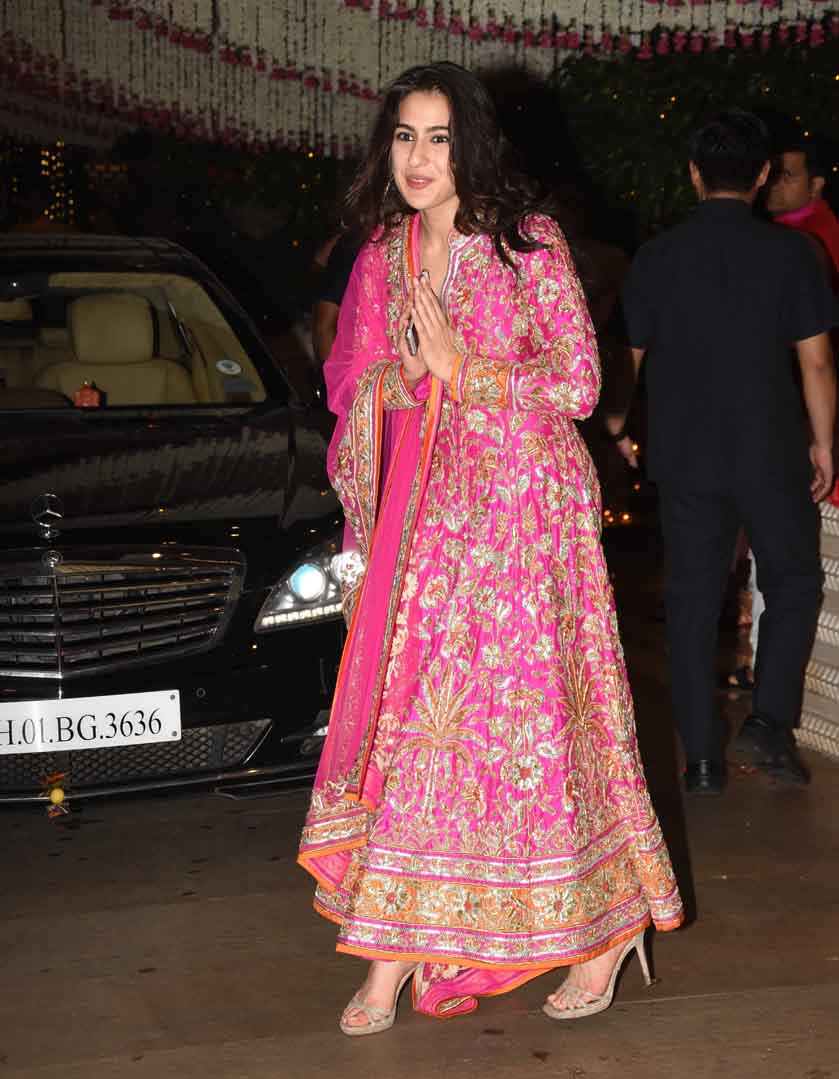 Sara Ali Khan's traditional avtar at Mukesh Ambani's Ganesh Utsav