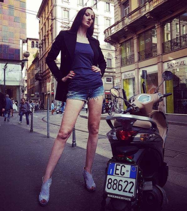 Ekaterina became world's tallest model in Russia