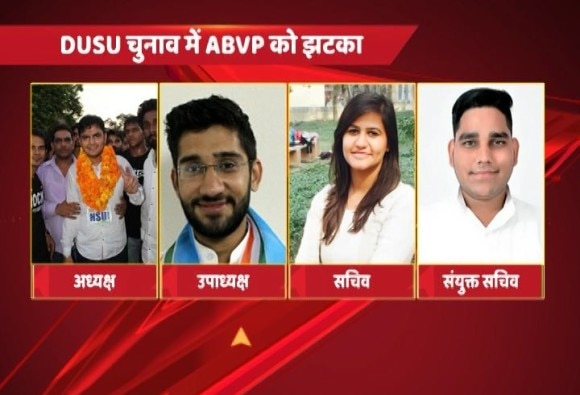 DUSU Election Results: NSUI wins President Post, ABVP wins Secretary post