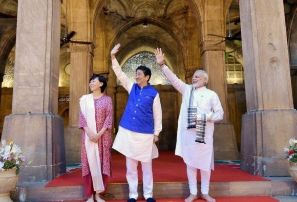 Shinzo Abe and pm modi in Gujarat: Bullet train foundation to be laid on Today