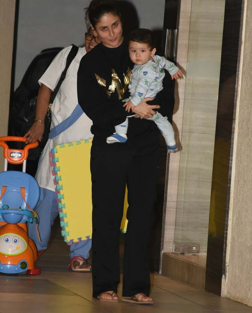 Taimur steals limelight from birthday girl mommy Kareena Kapoor Khan, View Pics