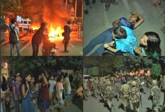 आधी रात को बीएचयू में बवाल, पुलिस ने प्रदर्शन कर रही छात्राओं पर बरसाई लाठियां