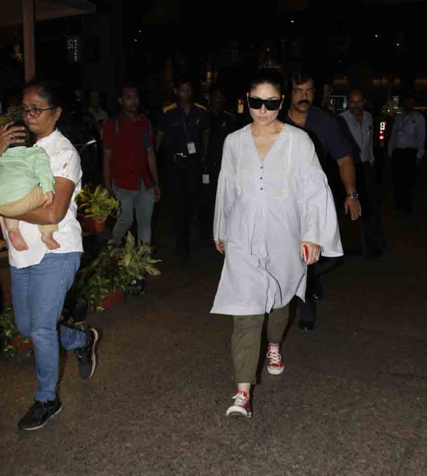 Kareena Kapoor Khan Returns To Mumbai With Taimur Ali Khan, View Pics