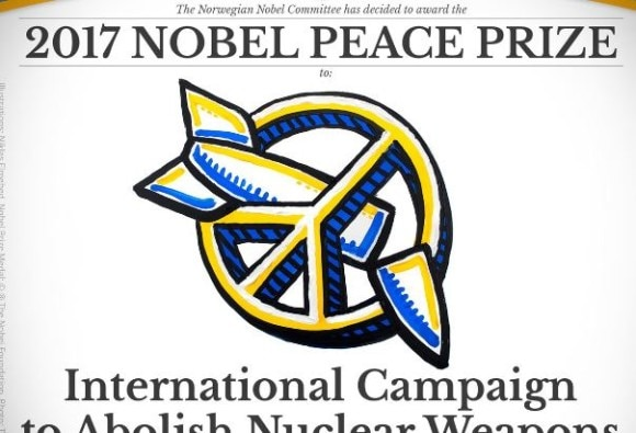 International Campaign to Abolish Nuclear Weapons awarded 2017 Nobel Peace Prize