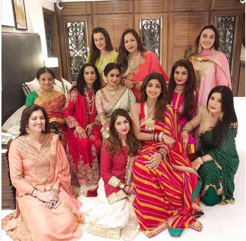 Sridevi, Raveena Tandon, Shilpa Shetty, Neelam's Karwa Chauth Celebration pics
