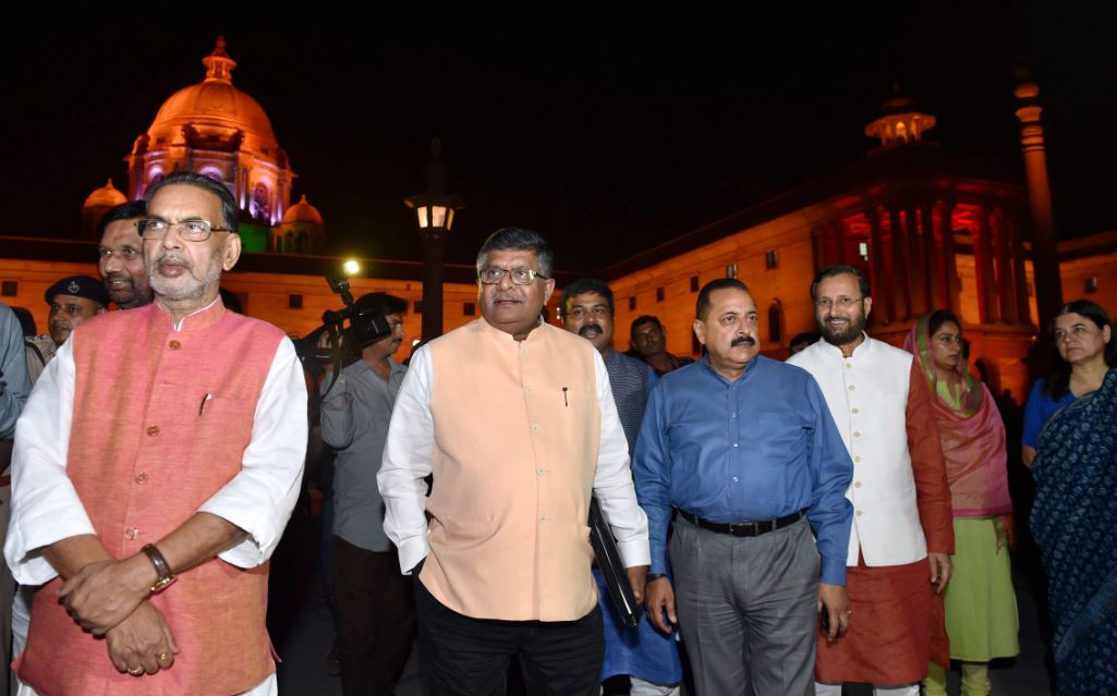 North and South Block endowed with new lighting systems which can produce more than one crore color combinations